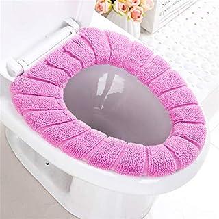 Jeerui Warme Tuch-Toiletten-Sitzabdeckung Dehnbare Maschinen-Waschbare Toilettensitz-Abdeckungs-Auflagen