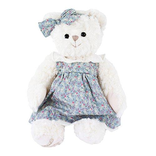 Kuscheltier Teddybär Bella Sophie weiß mit blauem Kleid 40 cm Plüschteddybär Bukowski (Blauen Belle Und Weißen Kleid)