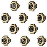 10 Stück - Design Möbelgriff Antik braun durchgerieben - Used-Look Möbelknopf Vintage Schrankknopf für Schubladen - H1367 | Knopf Ø 33 mm | Möbelbeschläge von GedoTec®