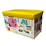 #5: Baybee Premium Storage Bin for Toy Storage, Collapsible Chest Box Toys Organizer with Lid for Kids Playroom, Baby Clothing, Children Books, Stuffed Animal, Gift Baskets