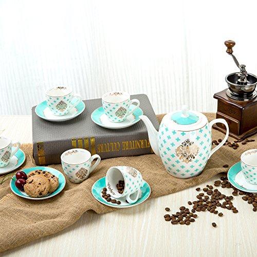 KHSKX Exklusives Porzellan kaffeeservice kreative Kaffee Tasse und Untertasse Tee Set