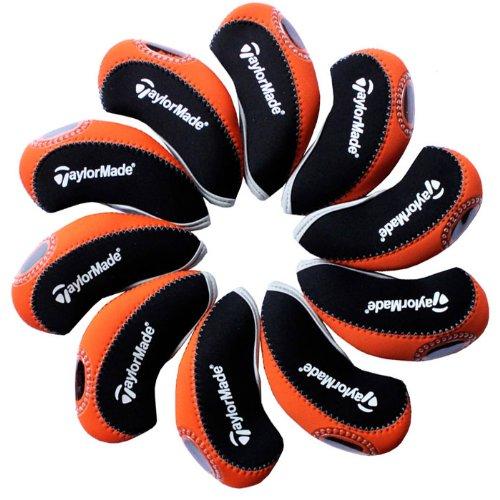 taylormade-capuchon-fer-de-golf-10pcs-noir-orange-mt-t11