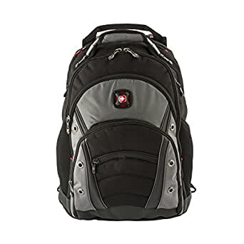 """Wenger 600635 SYNERGY 16"""" Laptop Backpack, Padded laptop compartment with iPad/Tablet/eReader Pocket in Black/Grey {26 Litres}"""