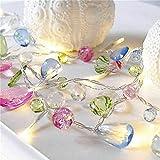 Led Fée Cristal Perles Chaîne Lumières Arbre De Noël Guirlande Décoration Batterie Fête De Mariage Led Led Décoration Maison Brun 1.5 M 10 Lumières