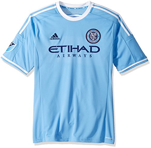 New York City FC Adidas MLS Performance Replica Jersey Trikot - Light Blue (Jersey Replica Blue)