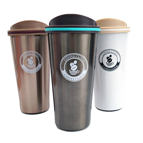 Edelstahl Kaffeebecher to go | 500ml | Thermobecher | Isolierbecher BPA...