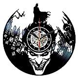 Queen Clocks Joker Horloge-Batman Vinyle Décoration Murale-DC Comics Cadeaux d'anniversaire pour Homme