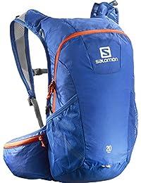 Salomon Trail 10 -Mochila para running/montañismo unisex, 10L, 46x20x12 cm, azul/naranja