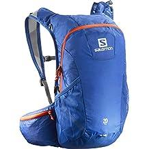 Salomon Trail 20 - Mochila para running/montañismo unisex, 20L, 48x24x15 cm, azul/naranja