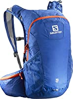 Salomon L38236100 Trail Backpack, Blue Yonder/ Vivid Orange F04 - 48 x 24 x 15 cm, 20 Liter