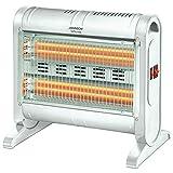 Palucart Stufa quarzo basso consumo elettrica inferno 1600w con ventola integrata termoventilatore da bagno sistema di sicurezza