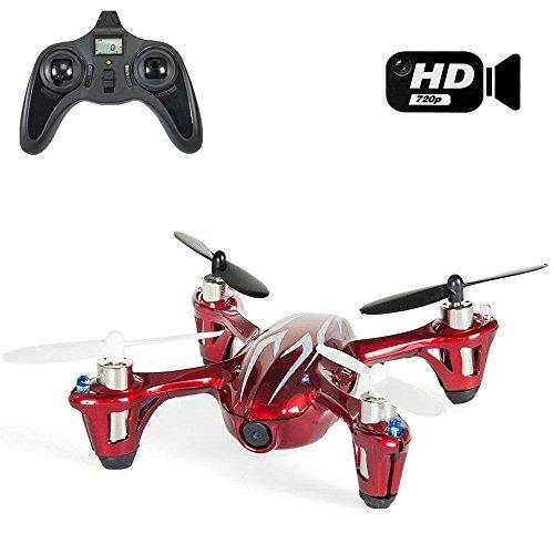 Hubsan X4H107C Quadrocopter Mini Drone Quadrocopter mit Kamera Spion 2MP Full HD 1280x 720-Farbe rot -