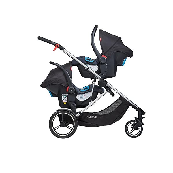 "phil&teds Voyager Buggy Pushchair, Red phil&teds 4-in-1 modular seat Modes include parent facing, forward facing, lie flat & lie flat off the buggy 12"" aeromax puncture free wheels 9"