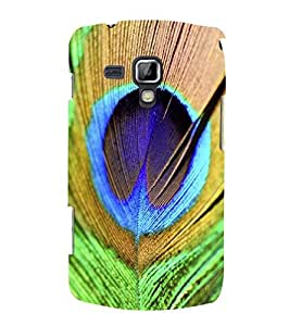 Fuson Designer Phone Back Case Cover Samsung Galaxy S Duos 2 S7582 :: Samsung Galaxy Trend Plus S7580 ( Feather Of The Peacock )