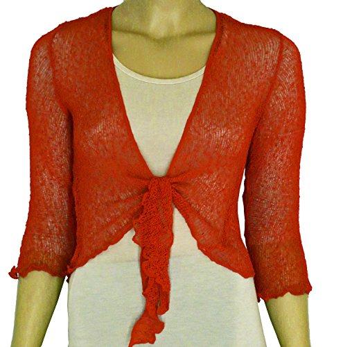 Taboo fashion clothing Damen Bolero One size Rostfarben
