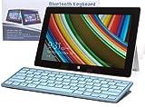 Navitech Schwarzes Wireless Windows 8 Bluetooth Keyboard für das HP 20 All-in-One / HP ENVY Recline / HP Pavilion 22/ HP Pavilion 23