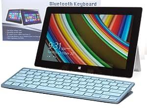 Navitech clavier fin argenté sans fil Bluetooth Windows pour Microsft Surface RT & Surface Pro