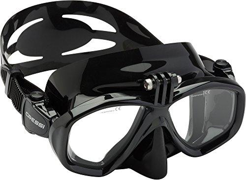 Cressi Action - Professional Tauchmaske mit einem Adapter für Action Cam - Speziell entwickelt für allen Tauchen Kameras