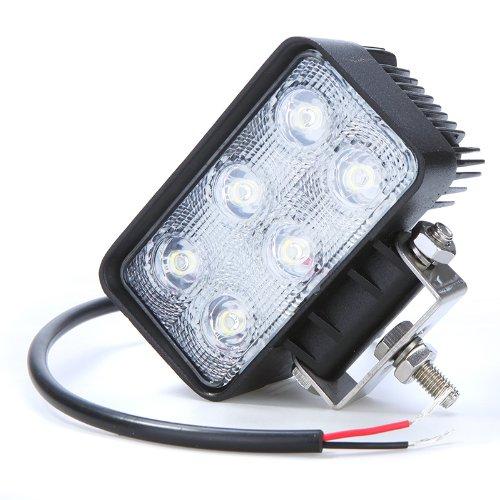 darpy (TM) 18W 6LED Luce da lavoro lampada auto lampadina LED fendinebbia per Jeep, SUV, ATV Off-road Truck veicolo uso notturno 6000K IP67impermeabile