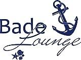 GRAZDesign 650139_40_049 Wandtattoo Bade-Lounge Anker | Badezimmer-Tattoo an die Wand/Fliesen/Spiegel (54x40cm//049 königsblau)