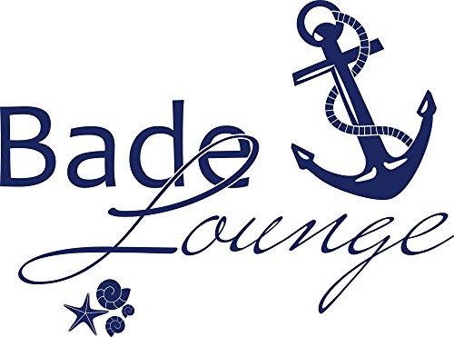 GRAZDesign Wandtattoo Bade-Lounge Anker Badezimmer-Tattoo an die Wand/Fliesen/Spiegel (40x30cm / 049 königsblau)