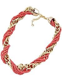 Yazilind boga chapado en oro Cuentas babero de la joyeria del collar regalo de las mujeres