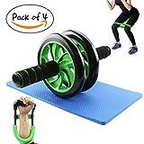 Dawa 4in 1kit roller per fitness Strength & con rullo ruota per addominali, ginocchiere, yoga stretch cintura e cinturino braccio Flexor Exerciser