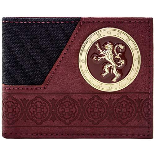 Of Joffrey Game Thrones Kostüm - Game of Thrones Haus Lannister Goldener Löwe Schwarz Portemonnaie Geldbörse