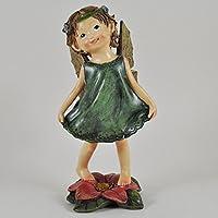 Fiore fata abito verde taglia M–Giardino Decorazione Bambini Regalo per interni ed esterni Pixie Elf Fantasy H20cm