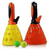 Fangballspiel 2 Ball Netz, ca. 18x18x28cm
