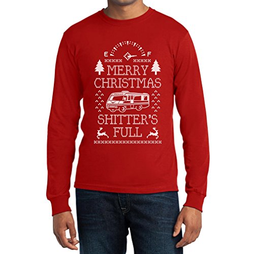 Merry Christmas Shitter's Full Langarm T-Shirt - Witziger Weihnachtspullover Rot