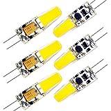 ZEEFO 6 Pack Bombillas LED G4, Bombillas con Base Bi-pin Blanco Cálido 3000K, Bombillas de Bajo...