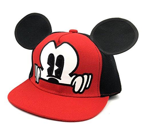Inception pro infinite (rosso cappello - baseball - hip hop - bambini - regolabile - visiera - estivo - berretto - protezione solare - 2-7 anni