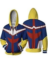 Queenromen Boku No Hero Academia All Might Hoodie Jacke Sweatshirt Cosplay  Kostüm Kapuzenpullover f73a767362