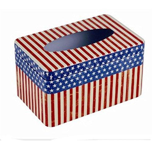 Stoving Lack-Eisen-amerikanischer Flaggen-Gewebe-Halter-Kasten-Abdeckung -