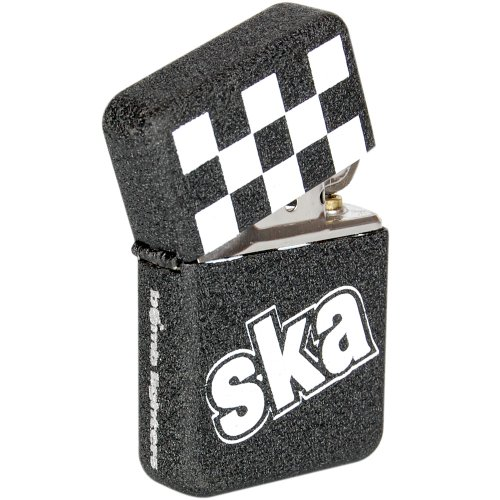 Ska Lighter - Crackle Black