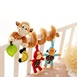 Newin Star Baby-Kinderwagen-Spielzeug, Aktivitäten, Spielzeug für Kinder, für Kinderwagen, mit Glöckchen und Spielzeug, 1Stück