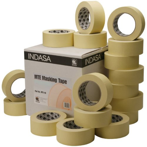 32 Rollen 30mm Indasa MTE 80°C Abdeckband Malerkrepp Abklebeband Kreppband GP(0,02€/m)