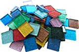 1kg Glitter Mosaik 2x2 cm bunt Buntmix Mosaiksteine Glitzermosaik Schmucksteine glitzernde Steine