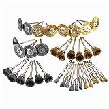 REFURBISHHOUSE36 pezzi Set di mole lucidanti per spazzole in filo di acciaio per punte da trapano 3Model
