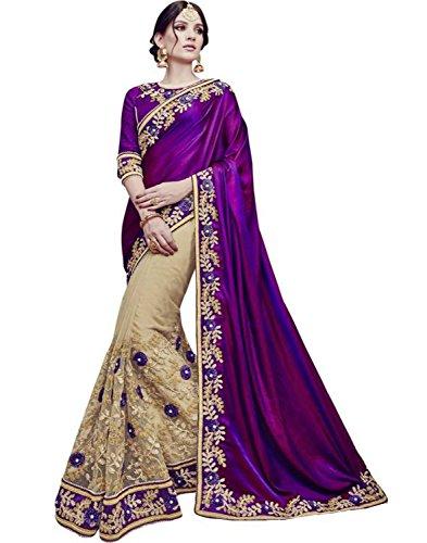 Sareeshop Georgette Saree With Blouse Piece (_Purple_Free Size)