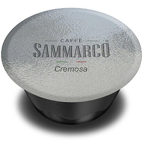 Caffè Sammarco 100 Kapseln kompatibel Lavazza A Modo Mio, Mischung 'Cremosa' für Espresso Kaffee