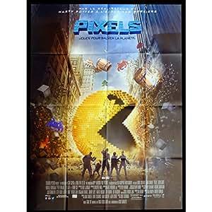 PIXELS Affiche de film 120x160 - 2015 - Adam Sandler, Chris Colombus, pacman