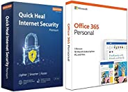 Quick Heal Internet Security Premium - 1 Users, 1 Years (DVD).&Microsoft Office 365 Personal for 1 user (W