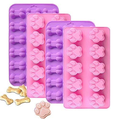 Detalles del molde: Color: rosa, morado. Tipo: moldes para dulces, bandejas para cubitos de hielo, moldes para chocolate Material: silicona Propiedades: respetuosas con el medio ambiente. Dimensiones: Forma de pata...