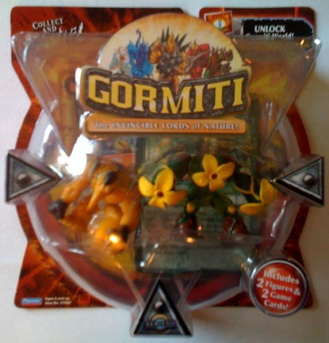 Gormiti Series 1 Action Figure 2-Pack Gravitus the Strong and Florus the Poisoner (Random Colors) by Gormiti