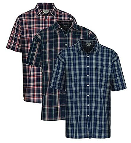 Champion Brighton Short Sleeve SS Summer Shirt - Country Check Fishing Hunting Shooting Nautical (XXL - 46/48