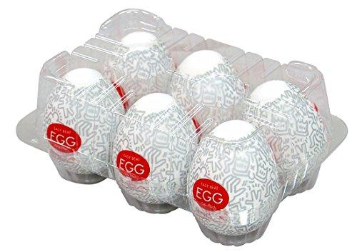 TENGA EGG × Keith Haring - Party, Silber, pacco da 6