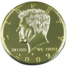 Truco de la Moneda Primer Plano Magia de Dólar Ilusión - Oro