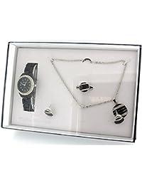 Philip Mercier GIFT222B - Reloj para mujeres, correa de plástico color negro